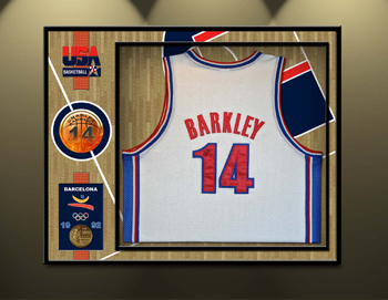 Barkley Olympics Jersey Framing